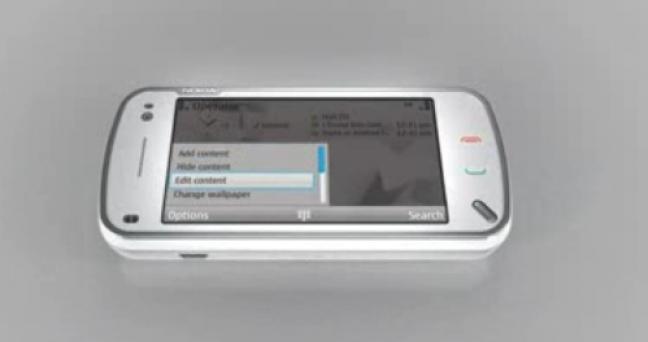 Menù di navigazione su Nokia N97