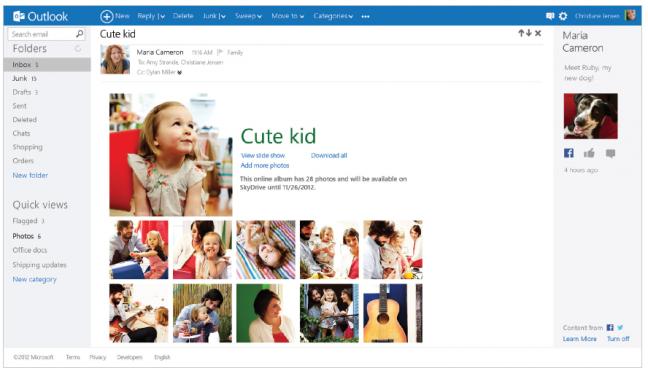 Novità di Outlook.com