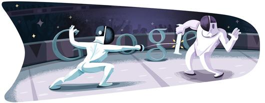 Olimpiadi di Londra 2012, Goodle doodle: scherma