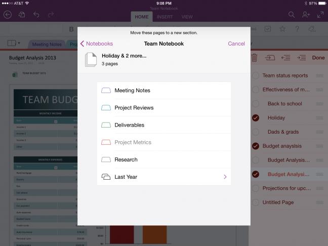 OneNote per iOS e Mac