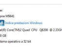 4 GB su Windows Vista 32 bit, ottenuti grazie all'abilitazione del PAE ed all'aggiornamento del Service Pack 2