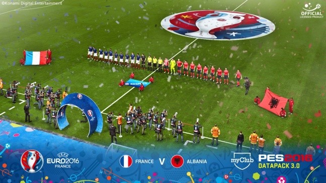 PES 2016: Data Pack 3 con UEFA EURO 2016