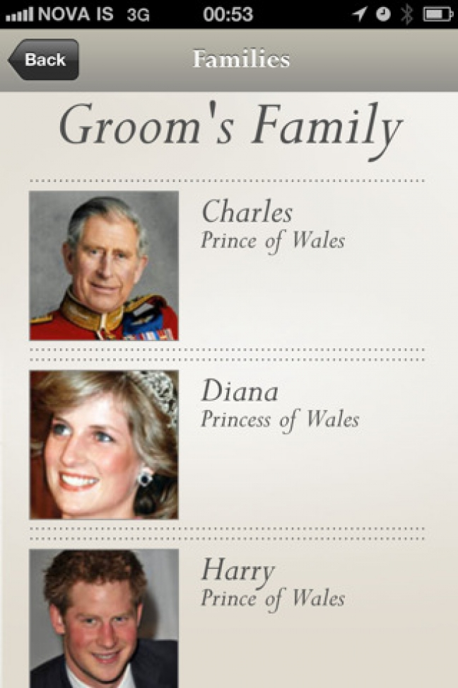 Royal Wedding, le app per iOS