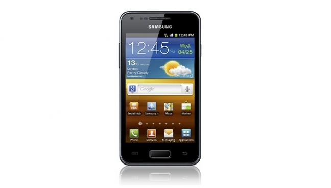 Samsung Galaxy S Advance display