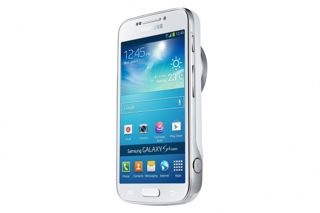 Samsung Galaxy S4 Zoom, vista laterale