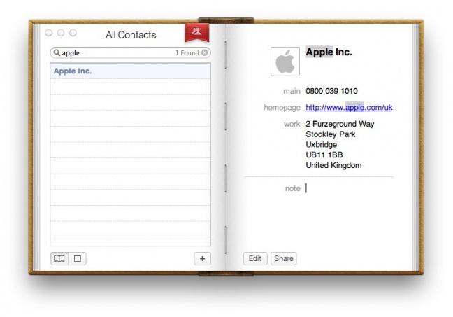 Skeumorfismo in Apple
