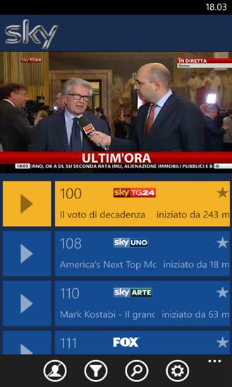 Sky Go per Windows Phone 8