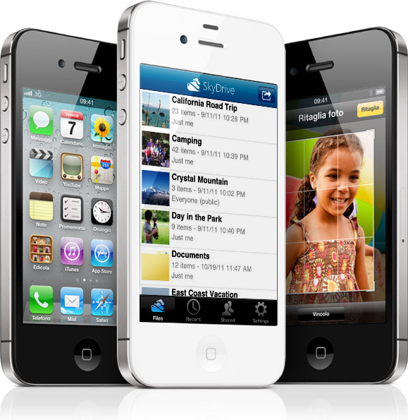 SkyDrive su iPhone