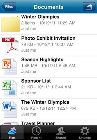 SkyDrive per iPhone