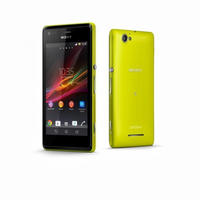 Sony Xperia M giallo