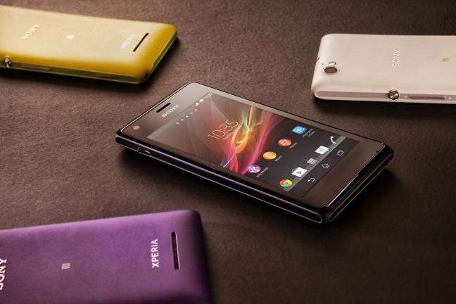 I vari colori del Sony Xperia M