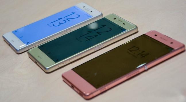 Sony Xperia X, Sony Xperia XA e Sony Xperia Performance