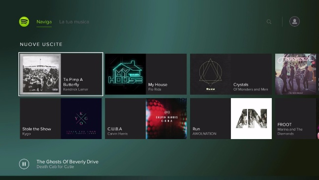 Spotify su PlayStation Music