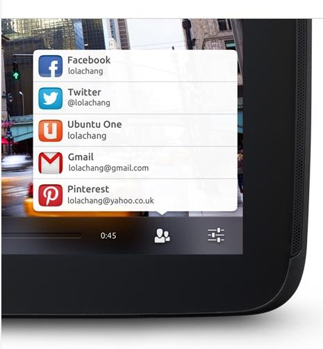 Ubuntu per tablet, feature per la condivisione