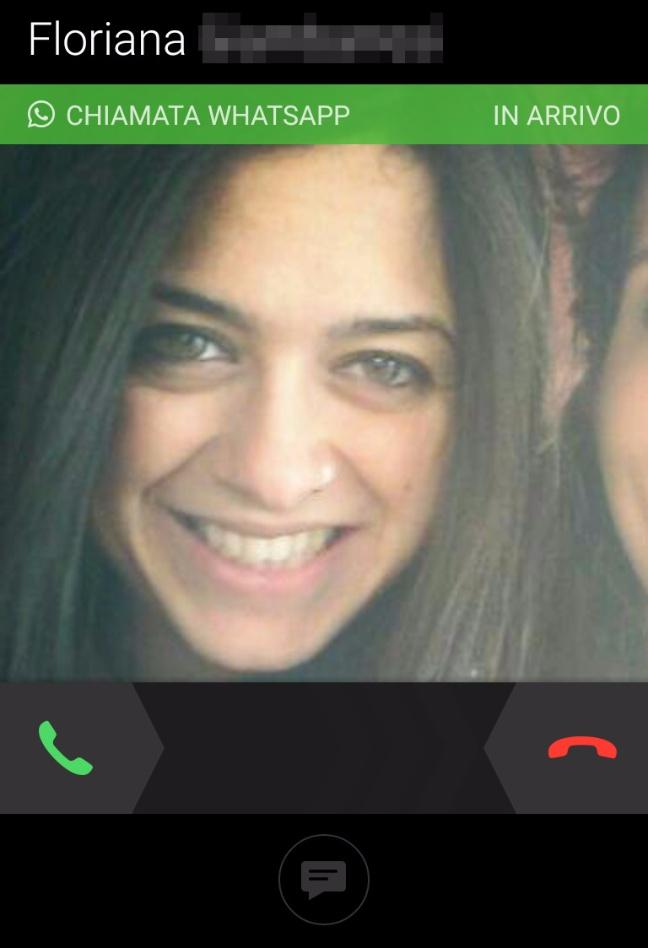 WhatsApp Chiamate: inizio di una telefonata (Android)
