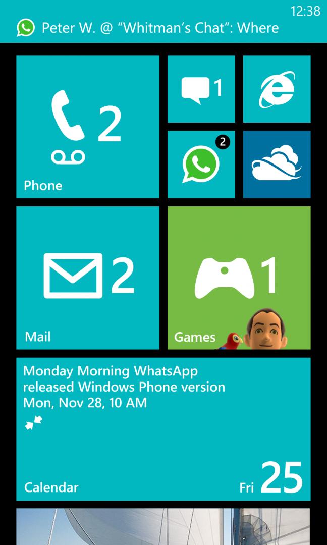 WhatsApp per Windows Phone 8