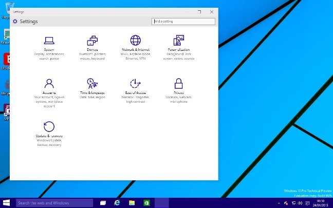 Windows 10 build 9926