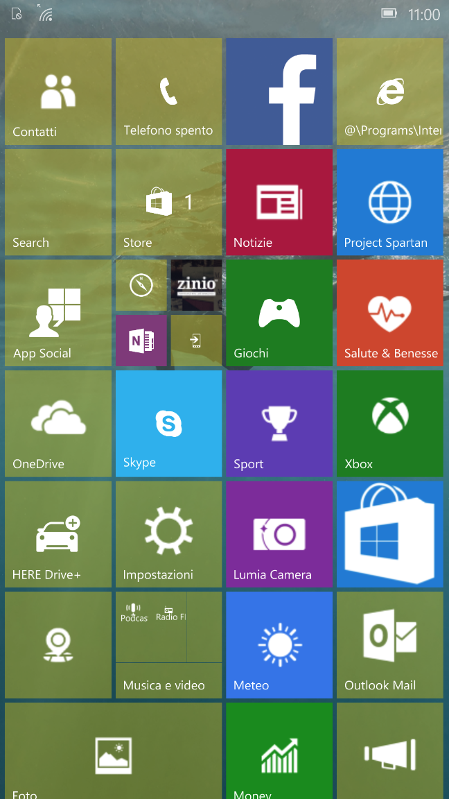 Windows 10 Mobile, build 10136