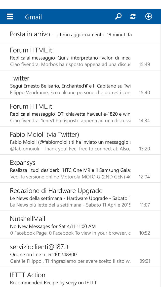 Windows 10 per smartphone, build 10051