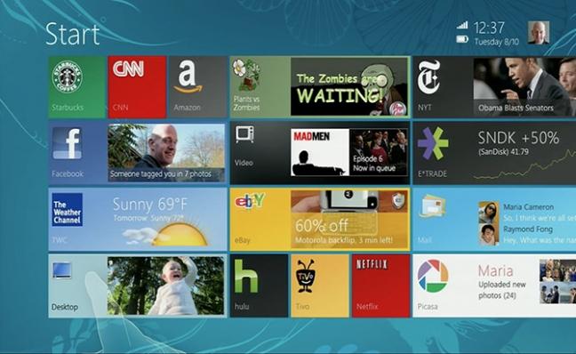 Windows 8, mockup del 2010