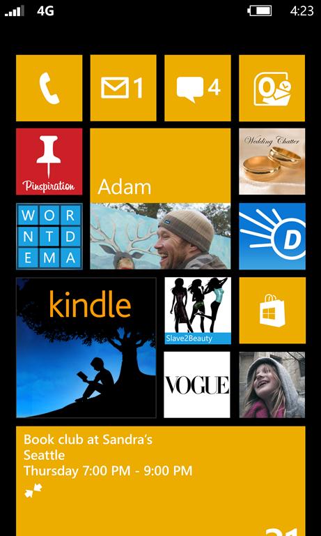 Start Screen Windows Phone 8 e Windows Phone 7.8