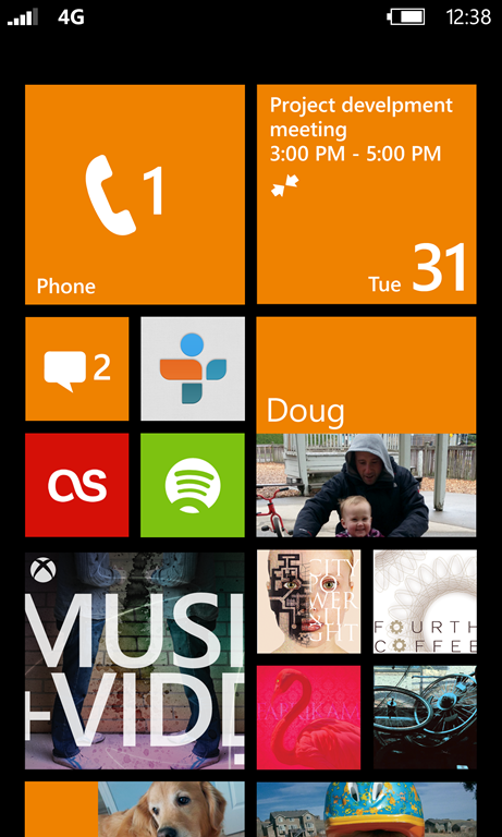 Start Screen Windows Phone 8 e Windows Phone 7.8