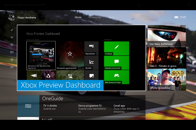 Xbox One con Windows 10
