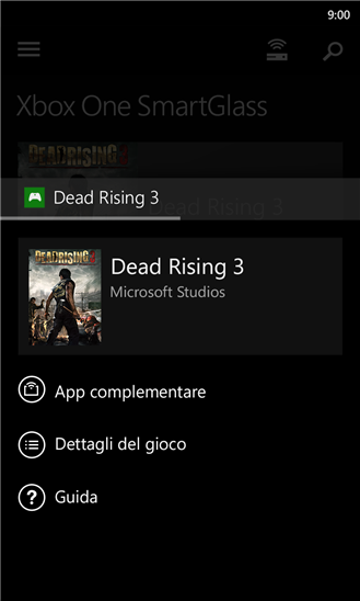 Xbox One SmartGlass per WP8