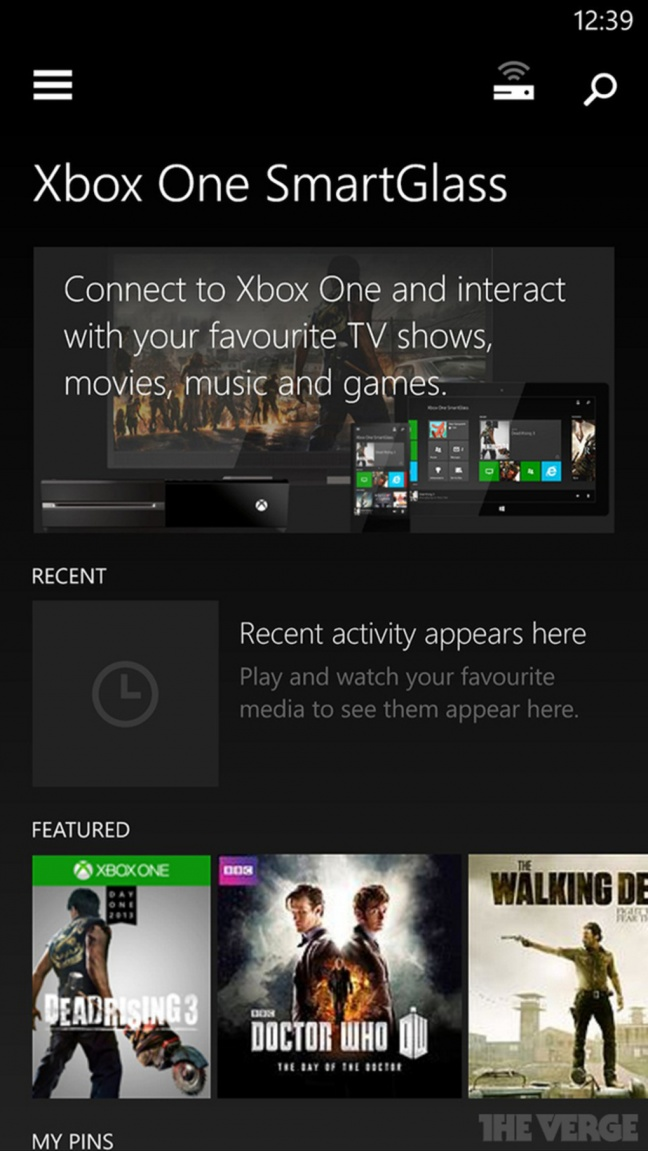 Xbox One SmartGlass per WP8