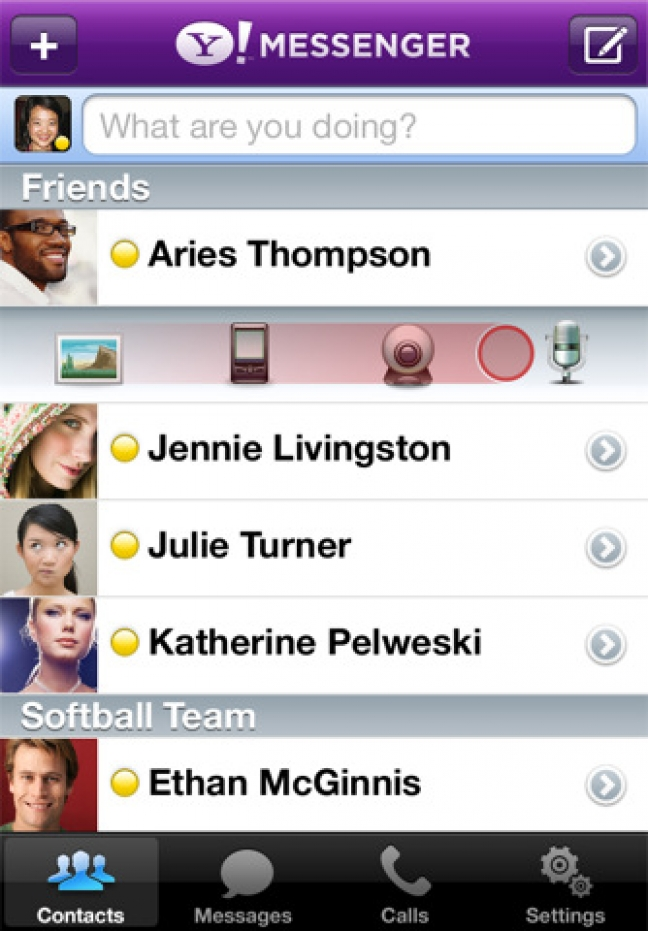 Yahoo! Messenger per iOS
