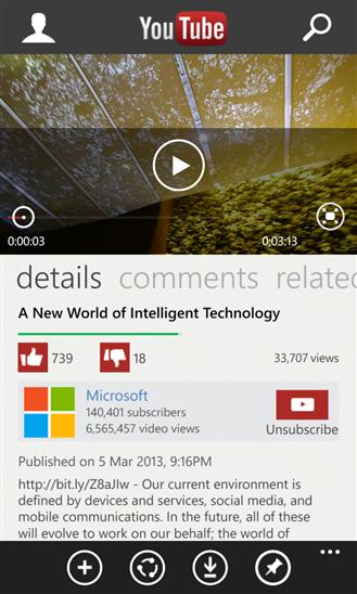 YouTube 3.0 per Windows Phone 8