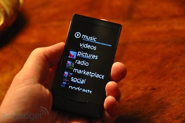 Zune HD, touchscreen