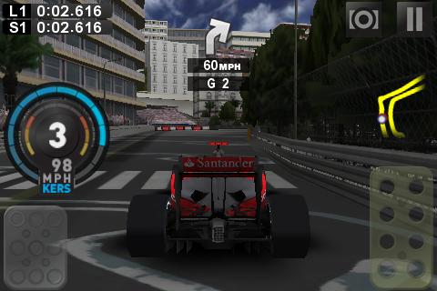 F1 2009 - iPhone screenshots