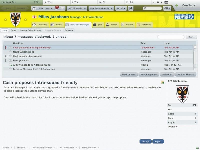 Football Manager 2010 - Screenshot