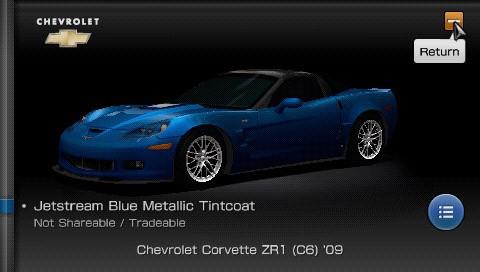 Gran Turismo PSP - Menu di gioco