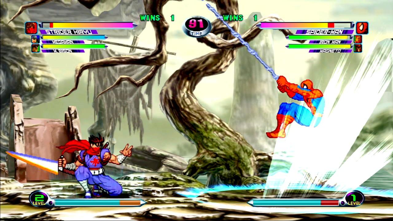 Marvel vs. Capcom 2 - Spiderman vs Strider