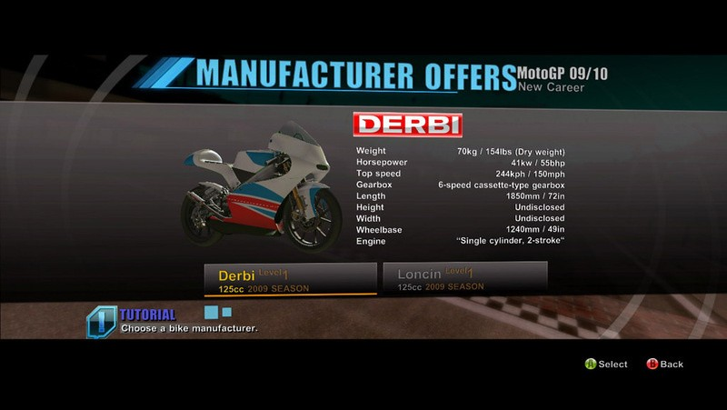 Moto GPTM 09/10 - Modalità carriera
