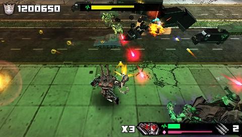 Transformers: La Vendetta del Caduto - PSP Screen
