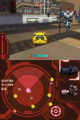 Transformers: La Vendetta del Caduto - Screen DS
