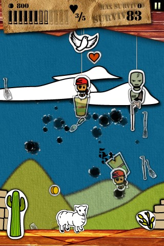 Zombies vs Sheep - Screenshot