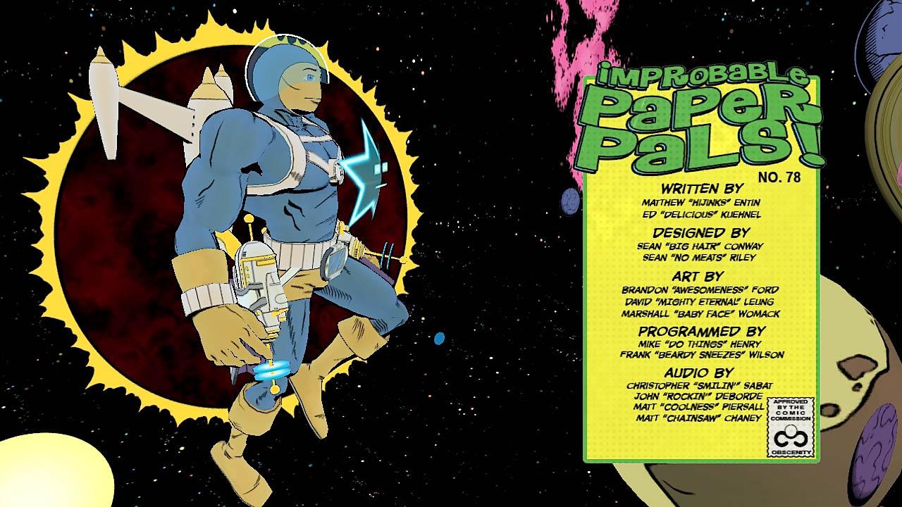 Comic Jumper - The Improbable Paper Pals