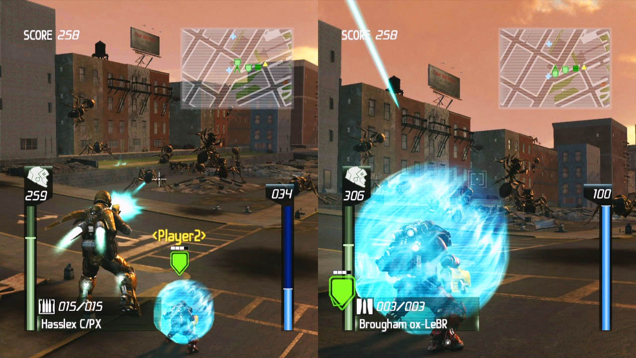 Earth Defense Force: Insect Armageddon - Mini Coop Screens