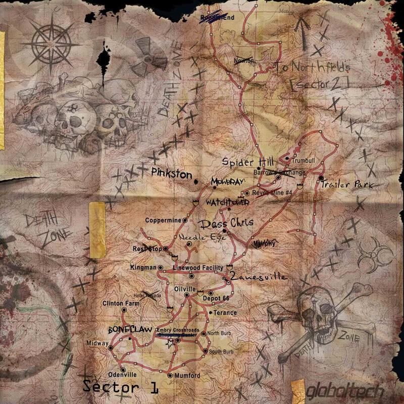 Fallen Earth - La mappa