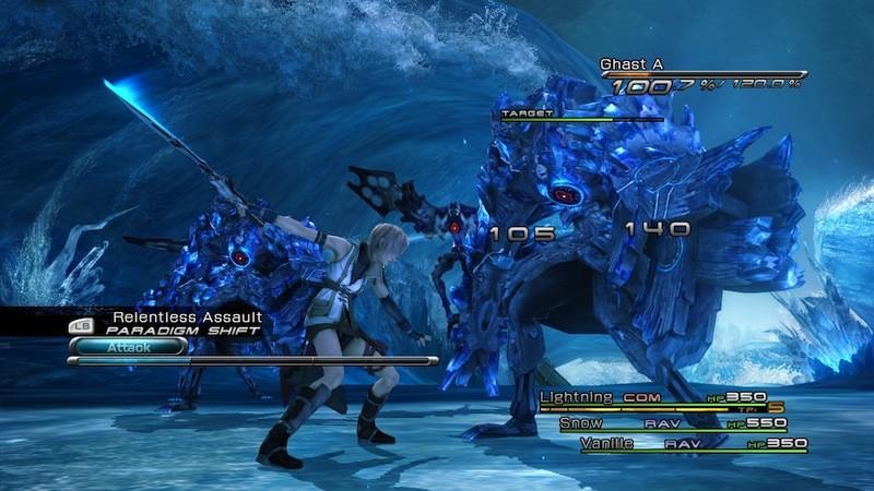 Final Fantasy XIII - Scontri e personaggi