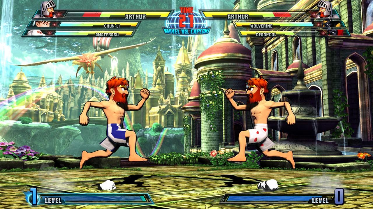 Marvel vs. Capcom 3 - Arthur e Spencer