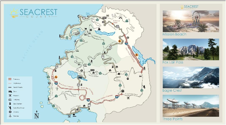 Need for Speed: Hot Pursuit - La mappa del gioco