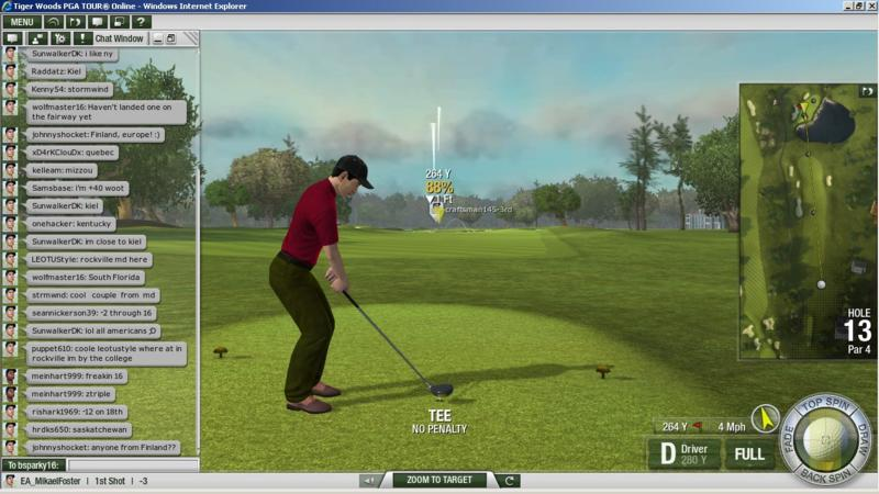 Tiger Woods PGA TOUR Online - Dritti in buca