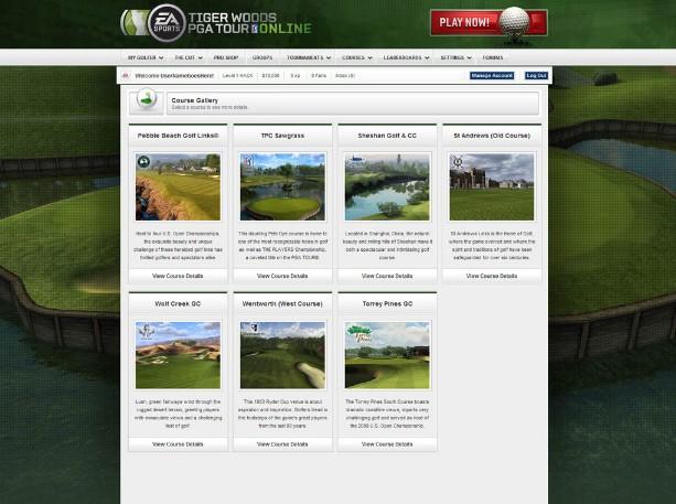 Tiger Woods PGA TOUR Online - Screenshots