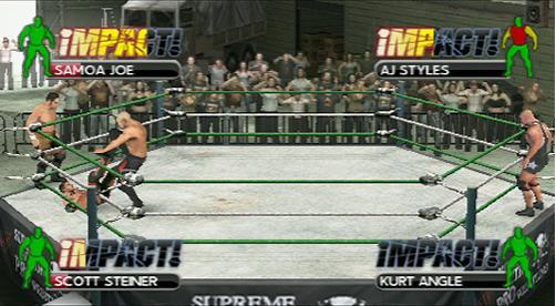 TNA iMPACT! Cross The Line - PSP Screenshots