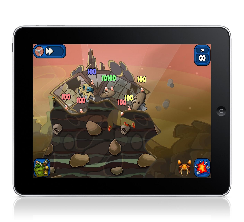 Worms 2: Armageddon - on iPad